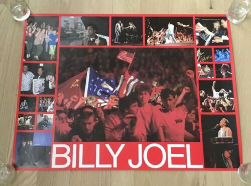 Original Vintage Billy Joel 1987 CBS Poster USA Russia Rare Piano Man 27x36 USSR