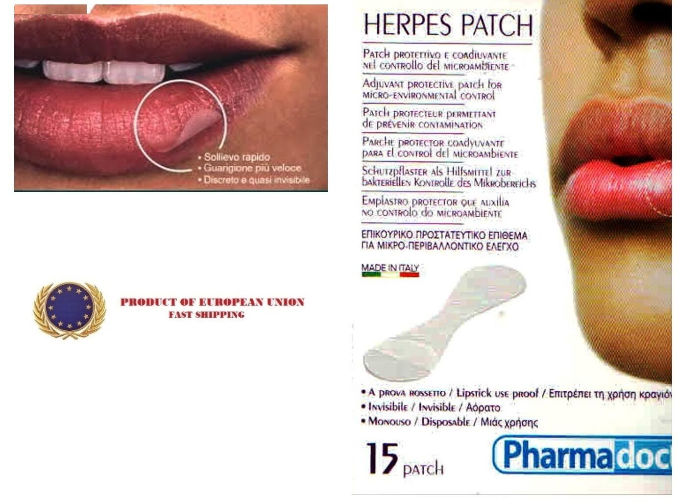 Details about *15* HERPES PATCH - Herpatch Fever Blisters -Cold Sore -  Invisable - Lipstick on