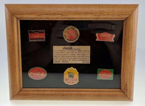 Coca-Cola 6 Nostalgia Pin Set Limited Edition 3,000 Vintage Artwork Publix Coke