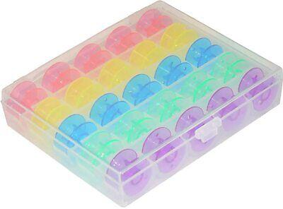 25Pcs/Set Colorful Empty Bobbins Size A Class 15 Storage Box Brother Singer etc
