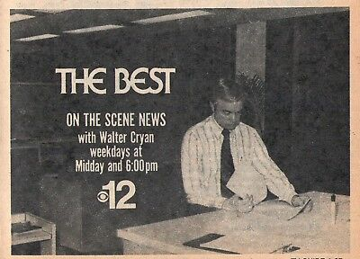 1975 Wpri Tv Ad Walter Cryan On The Scene News Providence Rhode Island