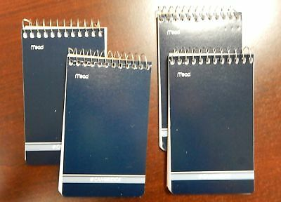 4 Mead Cambridge Writing Pad 3 X 5 Small Memo Book Wirebound Notebook 70sheet