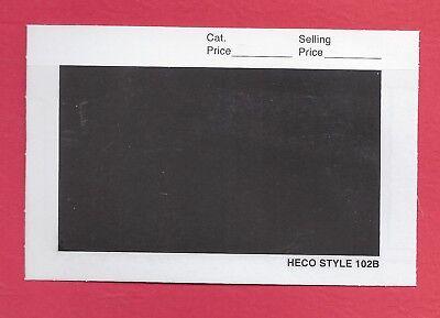 100 HECO 102B Display Cards Black Background 4-1/4 x 2-3/4