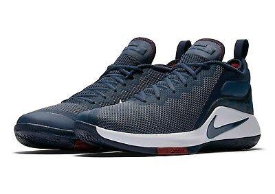Nike Lebron Witness II 2 Blue Basketball Shoes Mens Navy Camo White New w/ Box