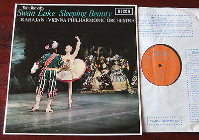 DECCA LXT 6187 TCHAIKOVSKY SWAN LAKE SLEEPING BEAUTY LP KARAJAN NM (1965)
