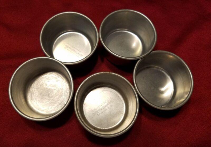 Vintage West Bend Aluminum Baking Cups Round Molds Ramekins - Lot of 5  (520)
