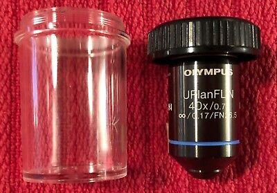 New Olympus Uplanfl N 40x 0.75 Microscope Objective Japan