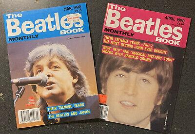 BEATLES Book Monthly - Mar & Apr 1990 (2 Issues) McCartney Lennon Harrison Ringo