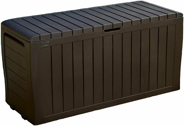 Keter Outdoor Storage Box 71 Gallon Patio Storage Deck Box