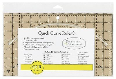 Qcr Quick Curve Ruler By Sew Kind Of Wonderful   Curved Cutting Piecing