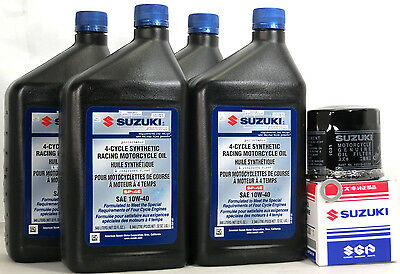 2011 Suzuki GSX-R1000 Full Synthetic Oil Change Kit