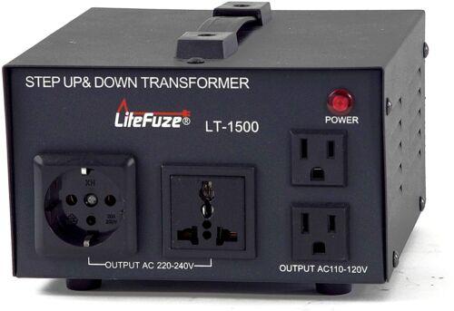 LiteFuze LT-1500 1500 Watt Voltage Converter - Step Up/Down
