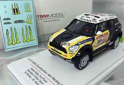 Mini Countryman All4 #305, Roma 2nd 2012 Dakar, TrueScale TSM144343  Resin  1/43