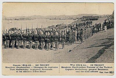 Greece WW I IN ORIENT Moudros Dardanelles Funeral Captain Medfathbey * AK u 1915