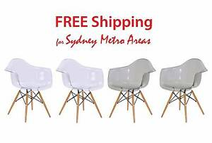 SALE - Eames Style DAW Dining Chair - Transparent (set of 4) Zetland Inner Sydney Preview