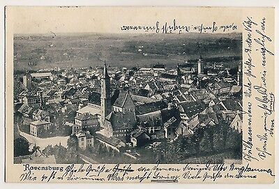 RAVENSBURG Ev Stadtkirche & Viehmarkt / Hirschgraben * AK um 1900