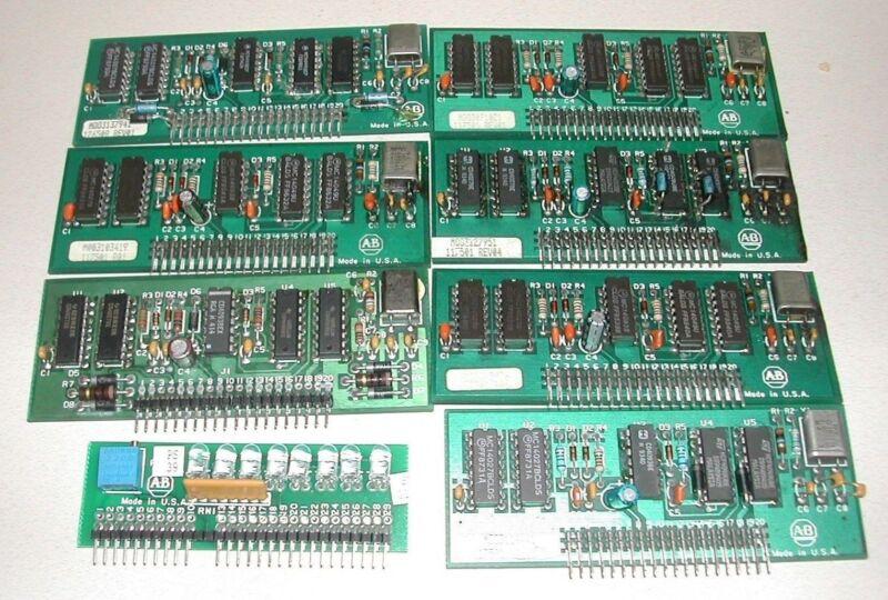 Lot 8 Allen Bradley Printed Circuit Board Used 117501 126508 133765 11594 (C18)