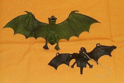 Toy Bats Halloween (vintage Halloween RUBBER BAT JIGGLER bats jigglers toys lot)
