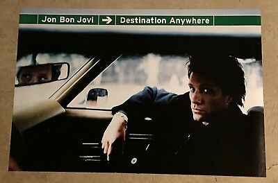Bon Jovi Promo Poster Destination Anywhere 2-Sided 1997 HUGE 24X36 Mint RARE
