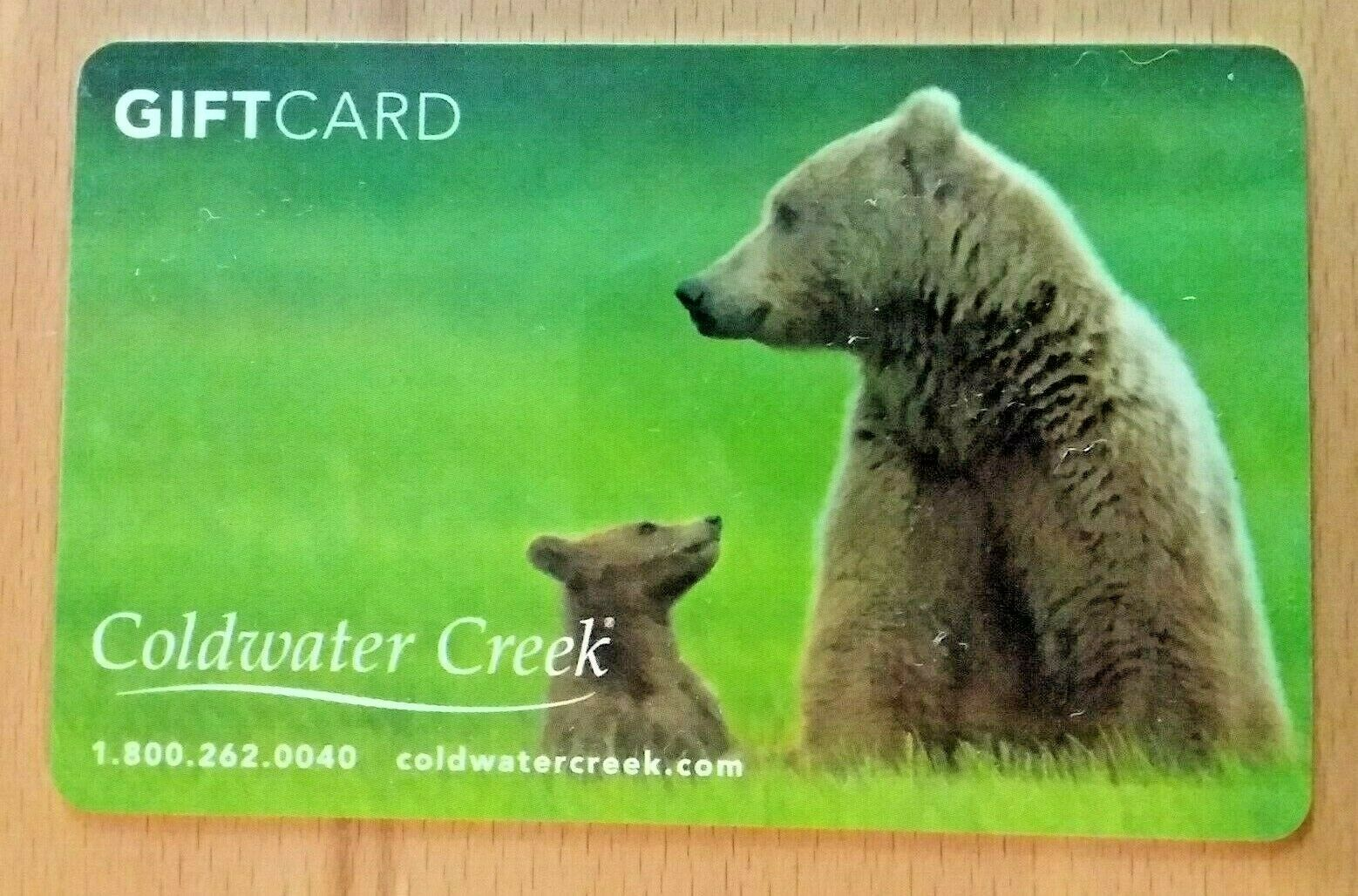COLDWATER CREEK TWO BEARS Mama Bear And Cub Gift Card No Value - $1.99