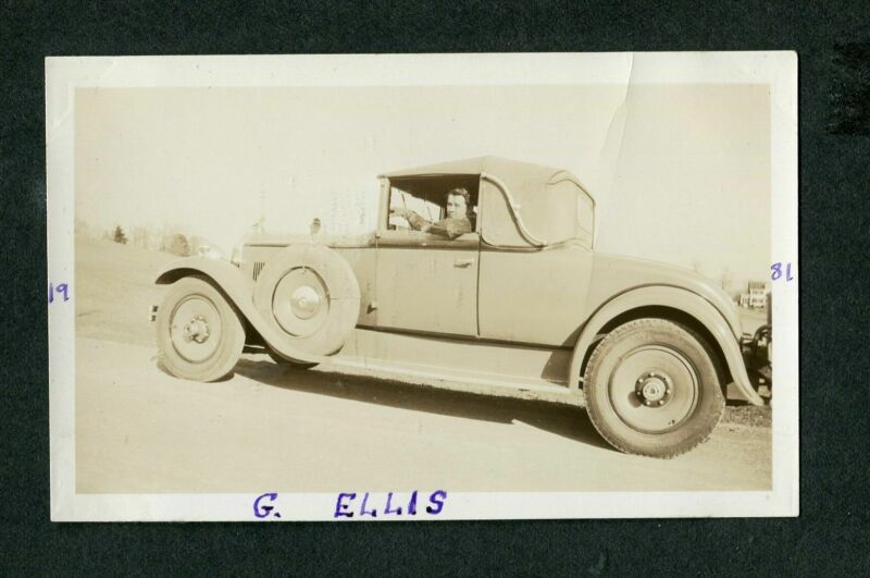 Vintage Car Photo circa 1930 Packard Cabriolet Convertible 409179