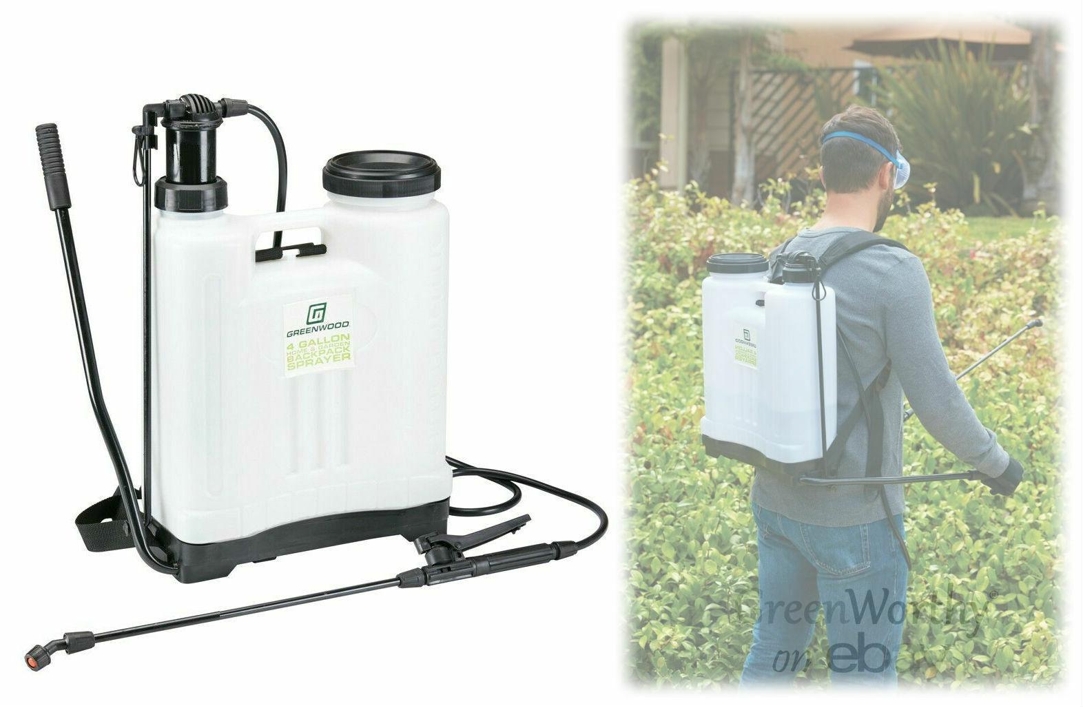 4 Gallon Backpack Garden Sprayer Hand Pump Weed Killer Pesti