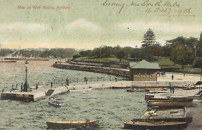 Sydney Nsw Australia Man Of War Stairs Park Used U S  Postage Due 1906