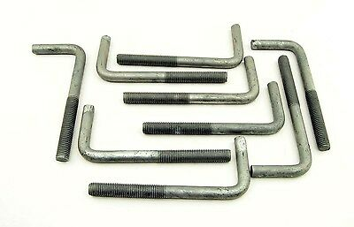 "(10) Concrete Bent Anchor Bolts 3/4-10 x 8"" Hot Galvanized"