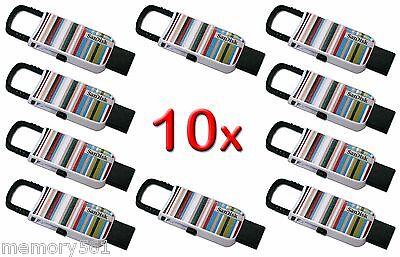 NEW Lot 10 SanDisk Cruzer U Clip 16GB USB Flash Drive Thumb Pen Memory Stick 16