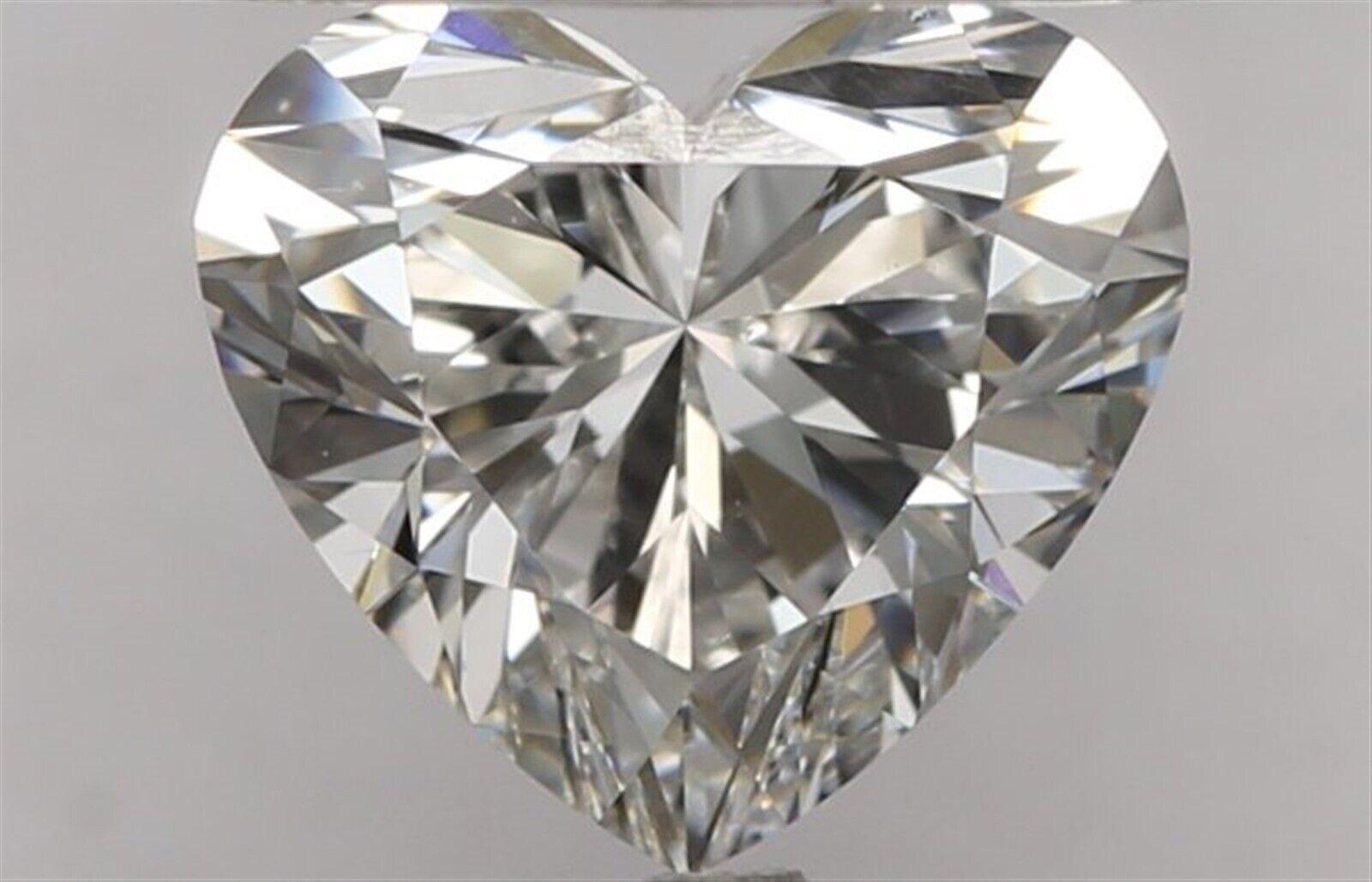 0.91 ct G Color VVS1 Clarity Heart 100% Natural Loose Diamond EX Cut GIA FL None