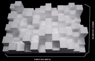 2D Sky Skraper Sound Acoustic Diffuser Diffusor Panel Absorption Treatment