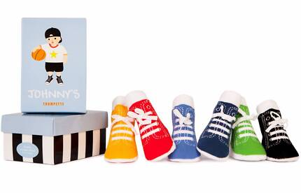 Johnny Trumpette Baby Socks - Gift Box of 6 pairs (size 0-12 mos)