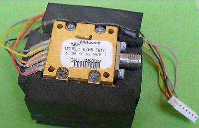 Stellex Endwave 6755-721f Yig Oscillator 5.38-6.36 Ghz Tunablesma Eyw Gy