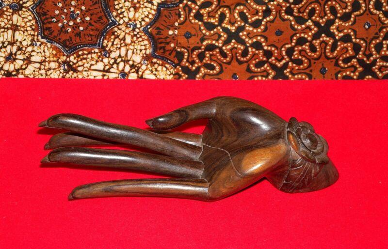Genuine Ida Bagus Tilem Wood Carving Mas Bali Sculptured Mudra Hand Rare Signed