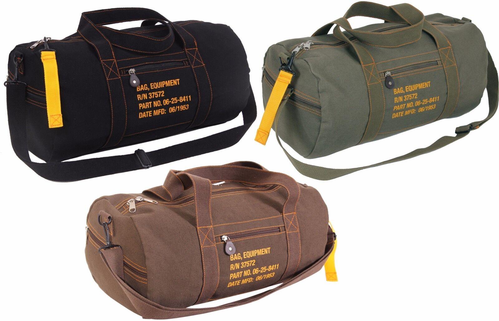 Bag - Cotton Canvas Adjustable Travel Equipment Shoulder Bag