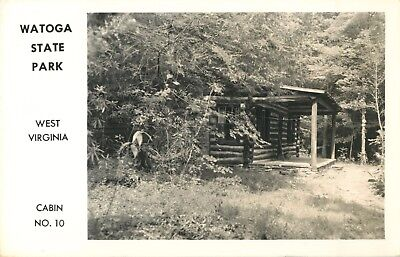 A View Of Cabin No. 10, Watoga State Park, West Virginia WV RPPC for sale  USA