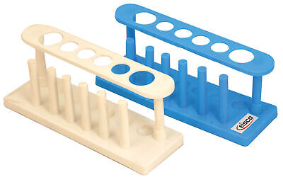 Eisco Labs Test Tube Stand Polypropylene 25mm Dia. Holes For 6 Tubes