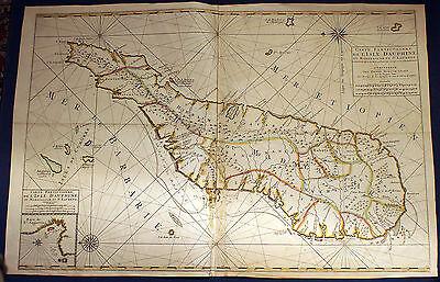 MADAGASCAR - grossformatige schöne Landkarte von Mortier 1700 - Original!