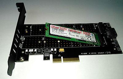 NGFF M.2 B Key + NVMe M Key PCI-E PCI Express x4 Adapter Karte | für SSD | Neu