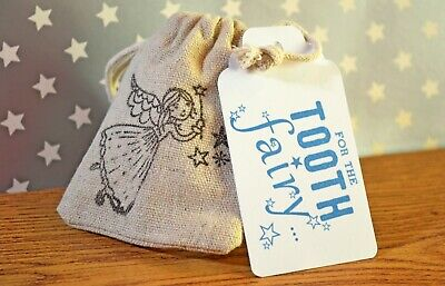 Tooth Fairy bag - Novelty Handmade item with poem for children - personalised