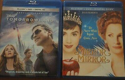 Lot of 2 blu-ray - Tomorrow Land & Mirror Mirror