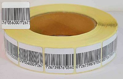 Eas Anti-theft Checkpoint Security Soft Label Tag 5000pcs Rf 8.2 Mhz 30mmx30mm