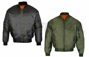 New-MA1-Mens-Army-Pilot-Biker-Bomber-Military-Security-Doorman-Harrington-Jacket