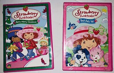 Strawberry Shortcake DVD Lot of 2 Cartoon- Best Pets Yet- Berry Merry Christmas ()