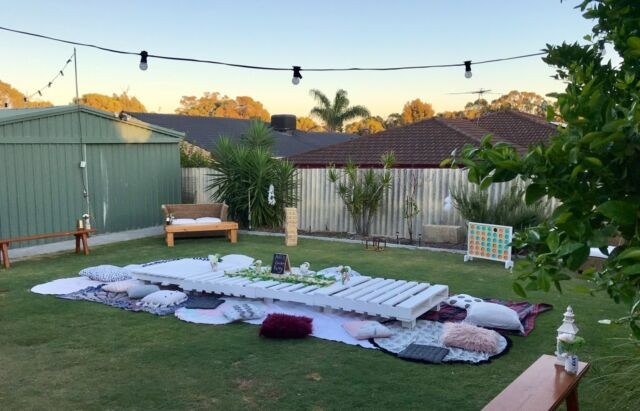 Pallet Picnic Hire Package Boho Party Hens Baby Shower