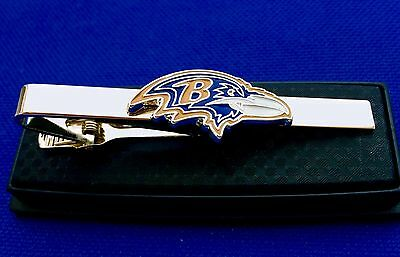 Baltimore Ravens Tie Clip NFL Logo Tie Clasp Football Tie Bar Gift Idea