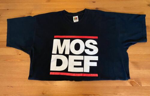 Vintage MOS DEF 90s 2XL RAP / HIP-HOP T-Shirt (Talib Kweli, Black Star, RUN DMC