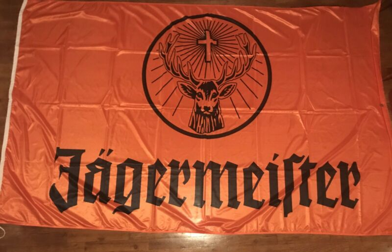 Jagermeister HUGE Banner Flag Approx 8x5 Foot NEW Liquor Alcohol Sign