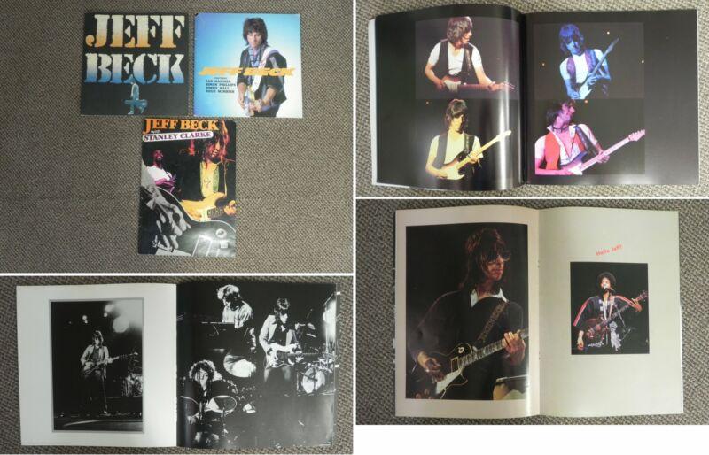 EC139 Lot of 3 Jeff Beck JAPAN Tour Program Books 1978 1980 1986 w/Rare Pictures
