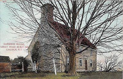 c.1910 Garrison House Great Road Lincoln RI post card